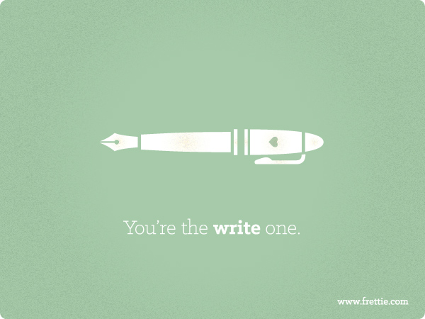 You're The Write One